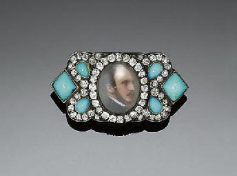 A 19TH CENTURY DIAMOND, TURQUO
