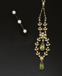 An Edwardian peridot and half-