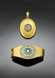 A Victorian diamond and enamel