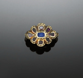 A 17TH CENTURY GOLD, GEM AND E