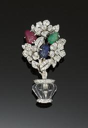 A diamond, ruby, emerald, sapp