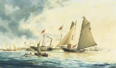 The schooner yacht America pas