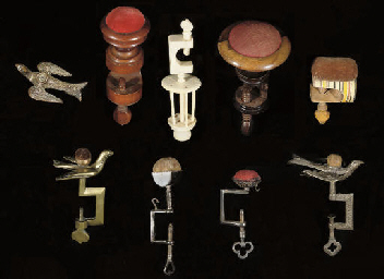 A GROUP OF SEWING CLAMPS, 19th
