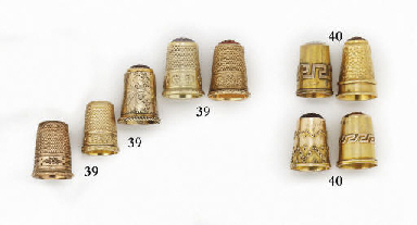 A German gold thimble