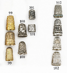 A Dutch gold thimble