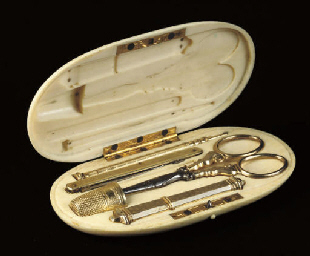 A French ivory cased silver-gi