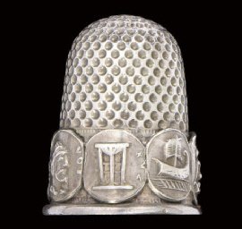An English silver thimble