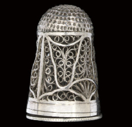 An English silver filigree com