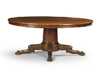 TABLE DE MILIEU D'EPOQUE RESTA