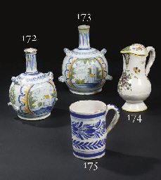 GOURDE EN FAIENCE DE NEVERS DE