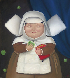 Nun Eating an Apple