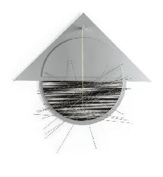 Triángulo y círculo