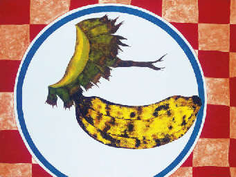 Banana no prato