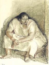 Untitled (Mujer sentada)