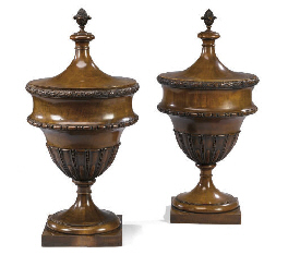 A PAIR OF EDWARDIAN MAHOGANY U