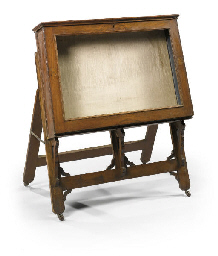 A VICTORIAN WALNUT DISPLAY OR
