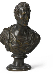 A BRONZE BUST OF THE DUKE OF W