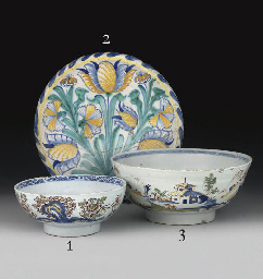A LONDON DELFT BLUE-DASH TULIP
