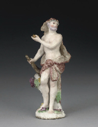 A CHELSEA FIGURE OF HERCULES