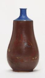 An Imari ware bottle vase