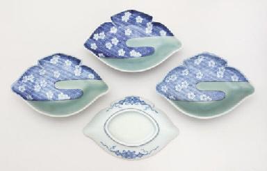 Four Nabeshima mukozuke