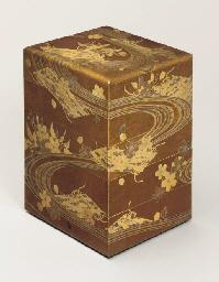 A lacquer jubako [picnic box]