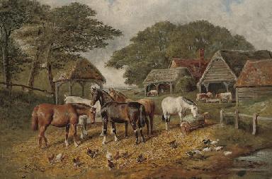 A sunny day in the farmyard