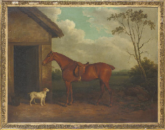 A chestnut hunter and hound ou