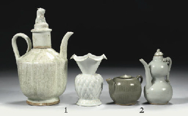 A celadon and yingqing ewer