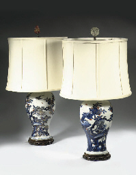A pair of Imari vases mounted