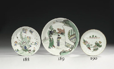 A famille verte saucer dish