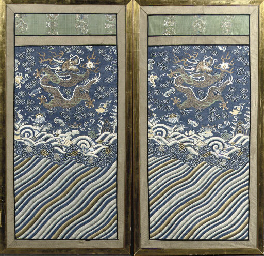 A pair of kesi panels
