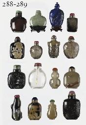 A lapis lazuli snuff bottle an