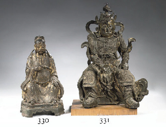 A Ming dynasty bronze figure o
