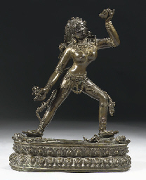 A Tibetan bronze figure of Sar