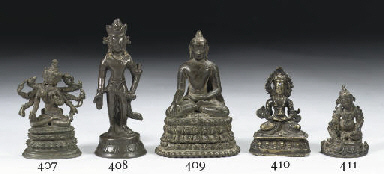 A Nepalese bronze figure of Am