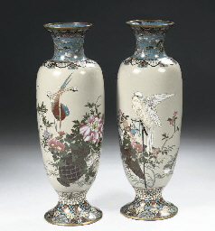 Two cloisonne vases