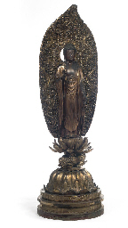 A large gilt wood figure of Am