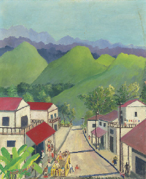 Village in the hills, Jamaica