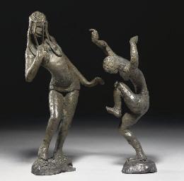 Two dancing figures