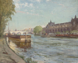 On the Seine before the Orsay,