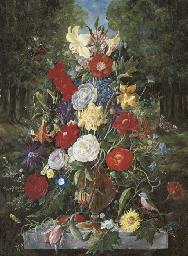 Lilies, roses, tulips, daffodi