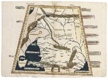 MAP, CAUCASUS -- PTOLEMY, Clau