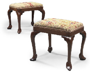 A PAIR OF GEORGE II WALNUT STO