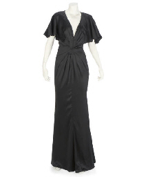UNGARO, A BLACK SATIN 1930S ST