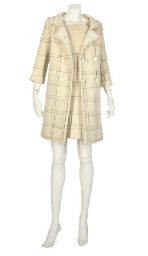 COURREGES, A CREAM WOOL ENSEMB