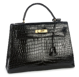 HERMÈS, A BLACK CROCODILE KELL