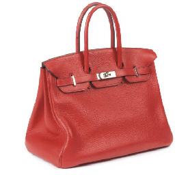 HERMÈS, FRAISE RED BIRKIN BAG,