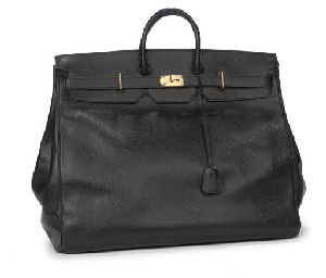 HERMÈS, A BLACK LEATHER HAUT A