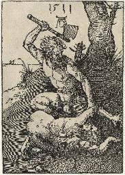 Cain killing Abel (B. 1; M., H